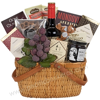 Wine gift baskets vancouver bcvqa wine gifts delivered to burnaby description details available add ons description our divine decadence basket negle Image collections