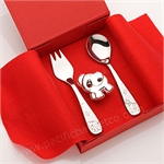 Stainless Steel Baby Zoo Feeding Set