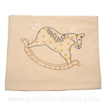 Organic Cotton Blanket : Rocking Horse
