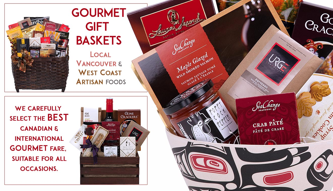 Gourmet food gift baskets from Vancouver Canada - Pacific Basket Company